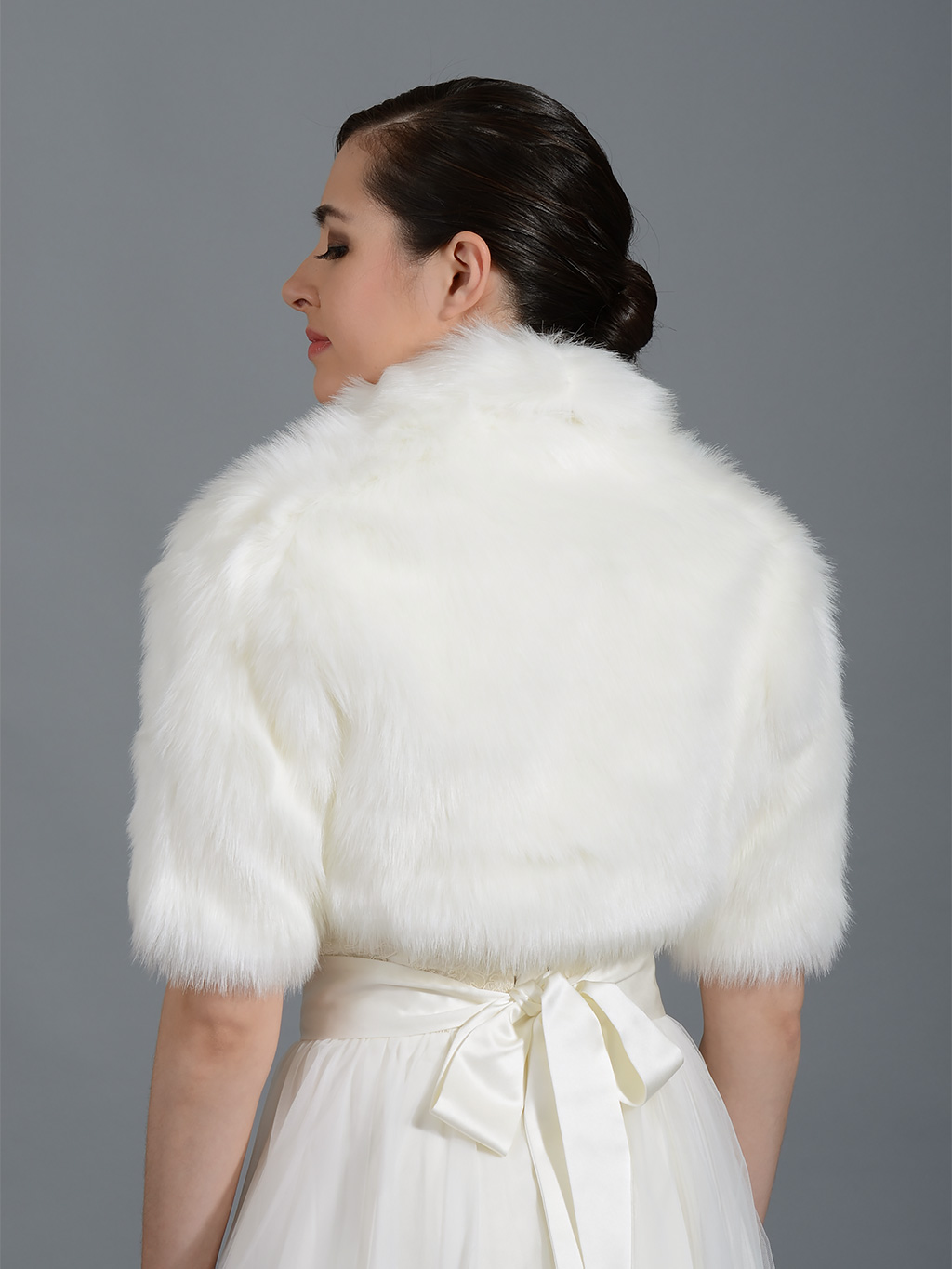 Faux Fur Bolero and Faux Fur Shrug keep you warm for your winter wedding. Great Quality, only at a fraction of the price.