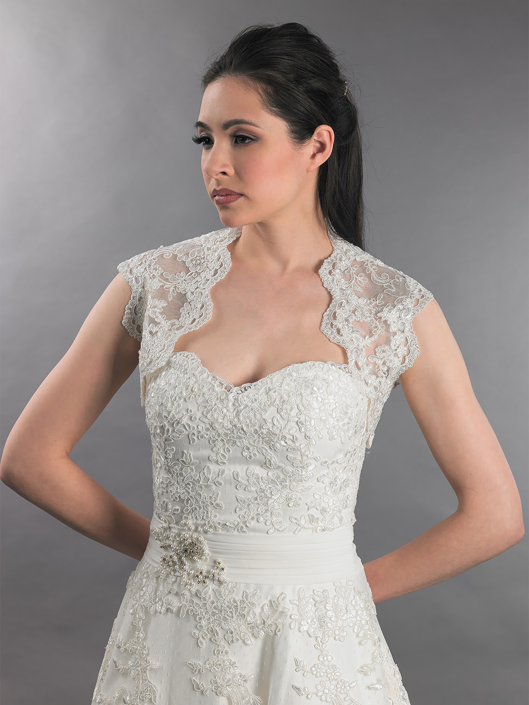Sleeveless alencon lace bolero jacket lace086 ivory and white follow us ombrellifo Images