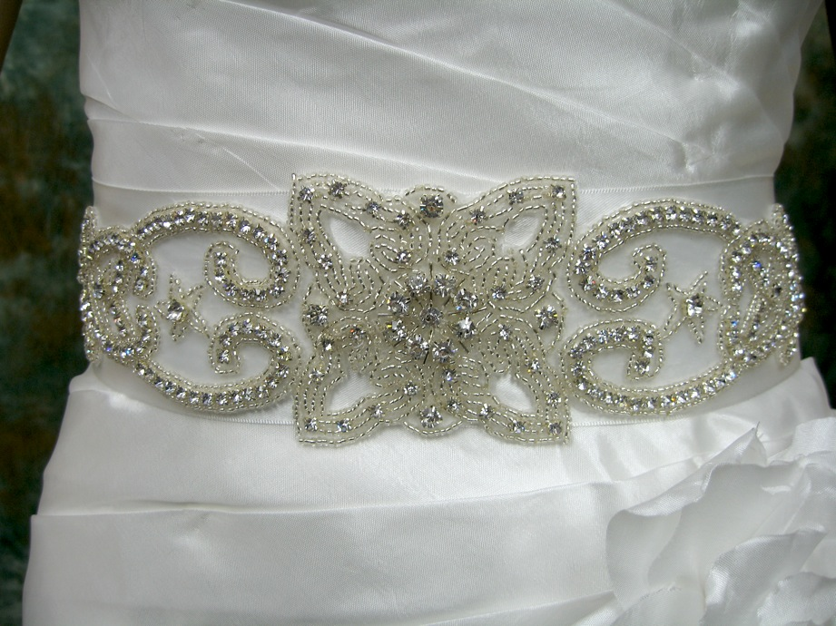 Rhinestone Wedding Sash RS003