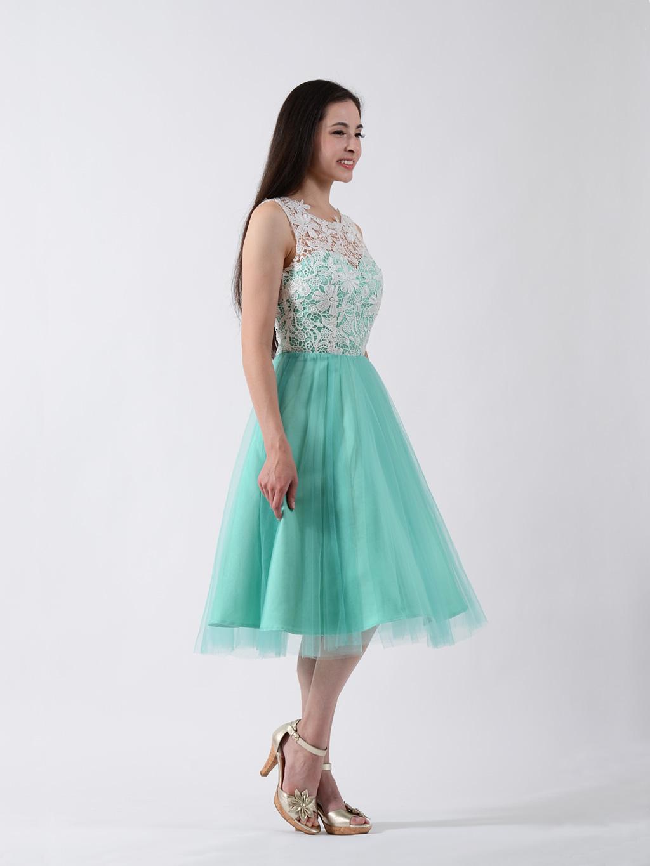 Lace Bridesmaid Dress Emerald