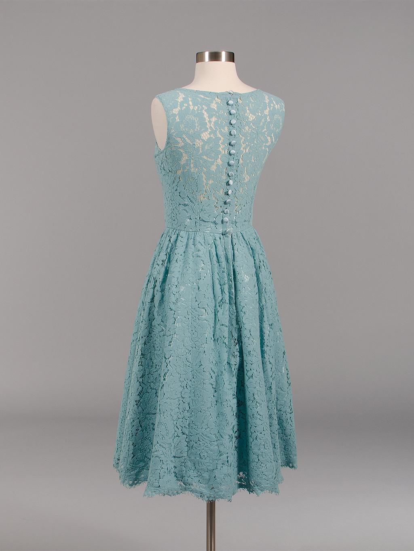 Lace Bridesmaid Dress Teal Bm007 Teal
