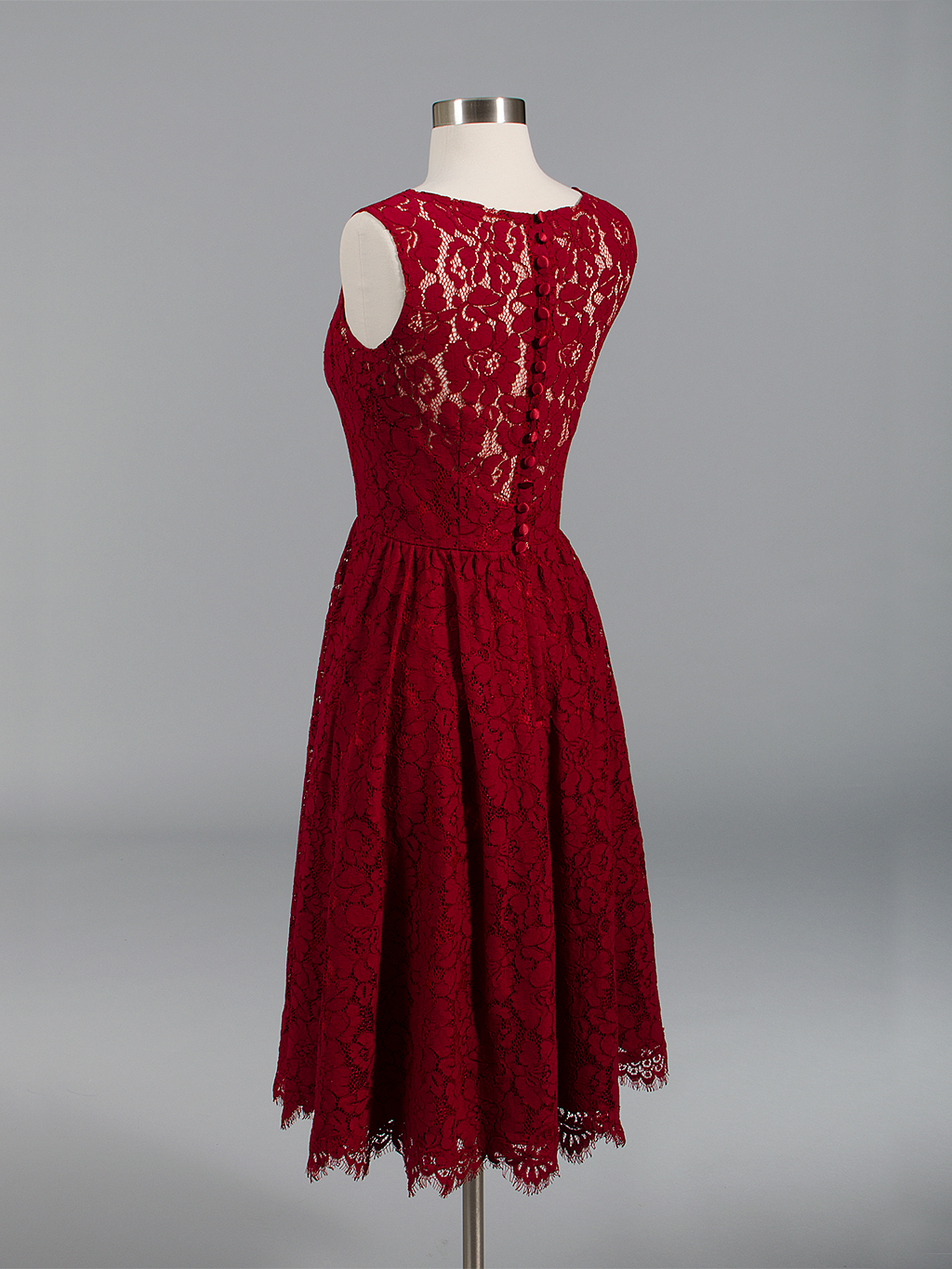 Lace Bridesmaid Dress Wine Red Bm007 Winered
