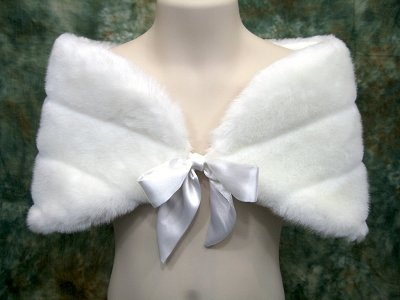 Ivory flower girl wrap shrug stole shawl cape A003F_Ivory