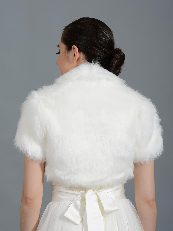 Faux Fur Bolero Fb003 Ivory