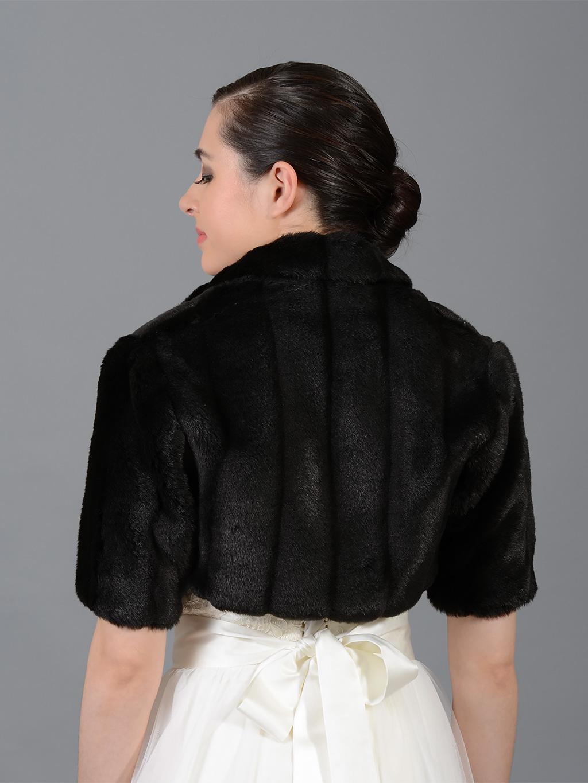 Black elbow length sleeve faux fur bolero jacket shrug Wrap $ On sale $ Champagne elbow length sleeve faux fur bolero jacket shrug Wrap.
