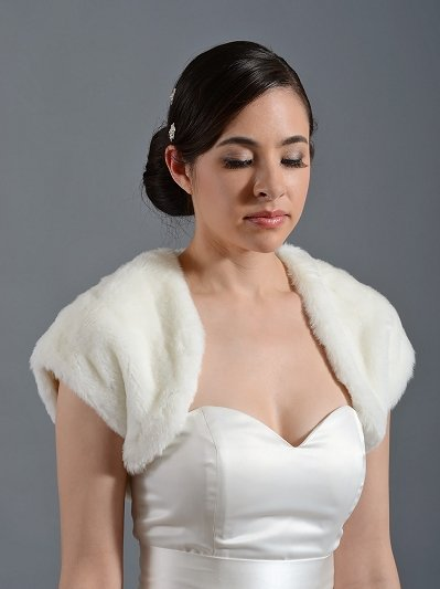 Faux fur shrug bolero wrap FS001
