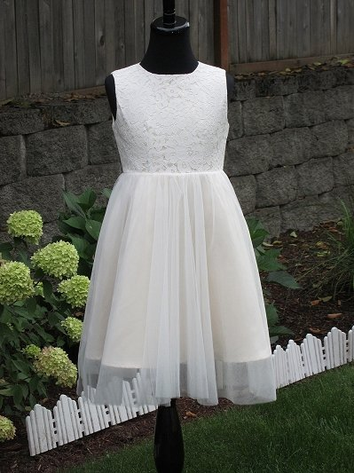 Champagne flower girl dress 005