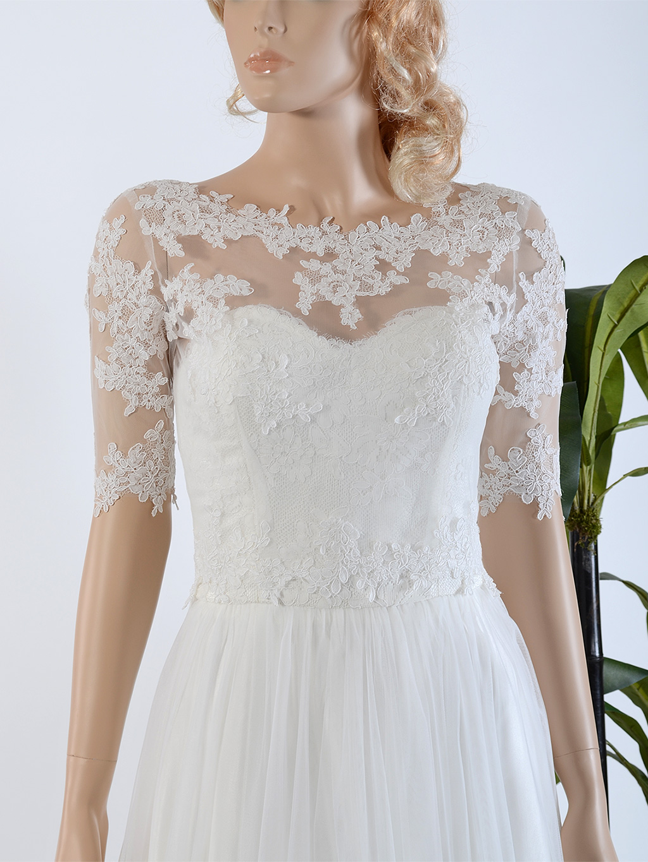 Bridal bolero lace wj020 for Lace jackets for wedding dresses