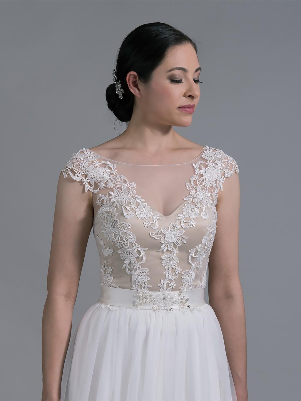 Bridal bolero lace wj023 for Lace shrugs for wedding dresses