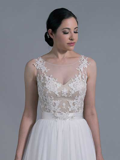 Bridal bolero illusion tulle lace WJ024