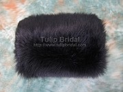 Black Faux fur winter wedding muff FM002_Black