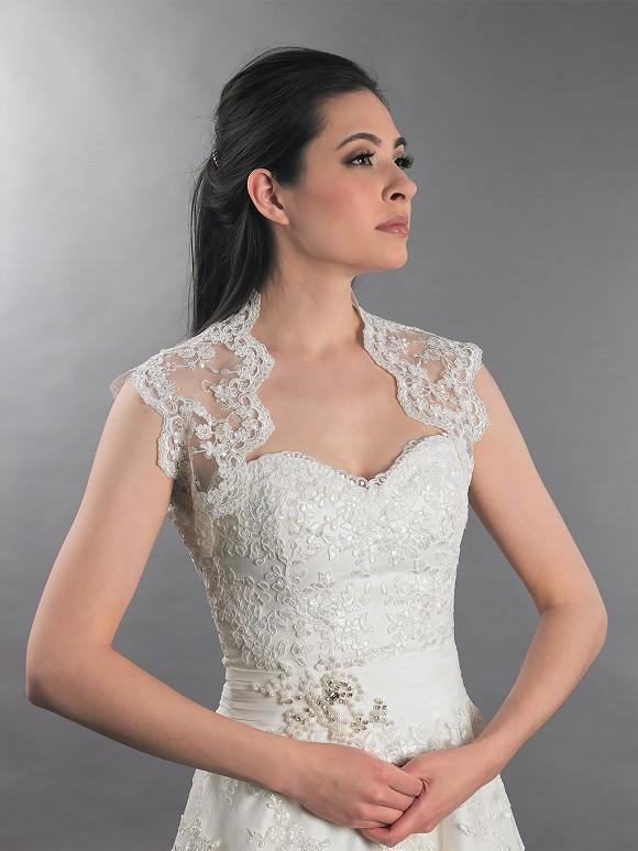 Ivory Sleeveless Lace Bolero Wedding Bolero Jacket