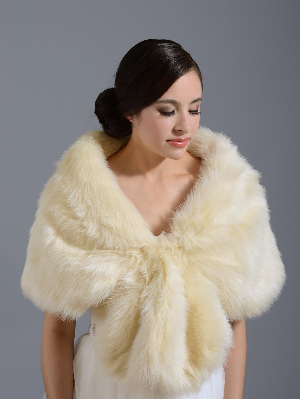 faux fur wrap A001 champane