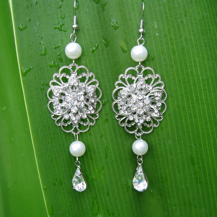 Sparkling Rhinestones earrings Earring_003