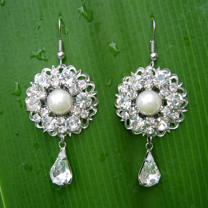 Sparkling Rhinestones earrings Earring_005
