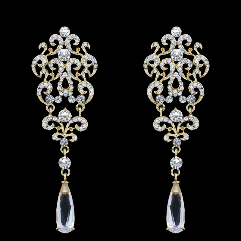 Sparkling Rhinestones earrings Earring_011