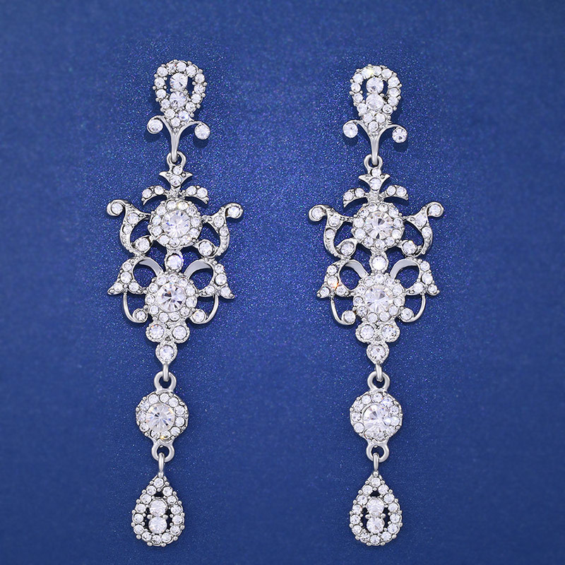 Sparkling Rhinestones earrings Earring_014