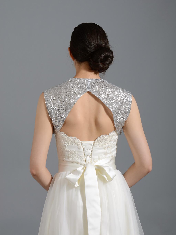 Silver Bolero Jackets for Evening Dresses