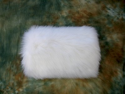 Flower girl white Faux fur winter wedding muff FM002F_White