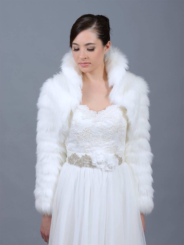 White Fur Stole >> White faux fur jacket shrug bolero Wrap FB002_White