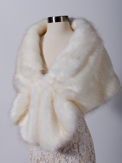 Faux fur wrap B006-darker-tips