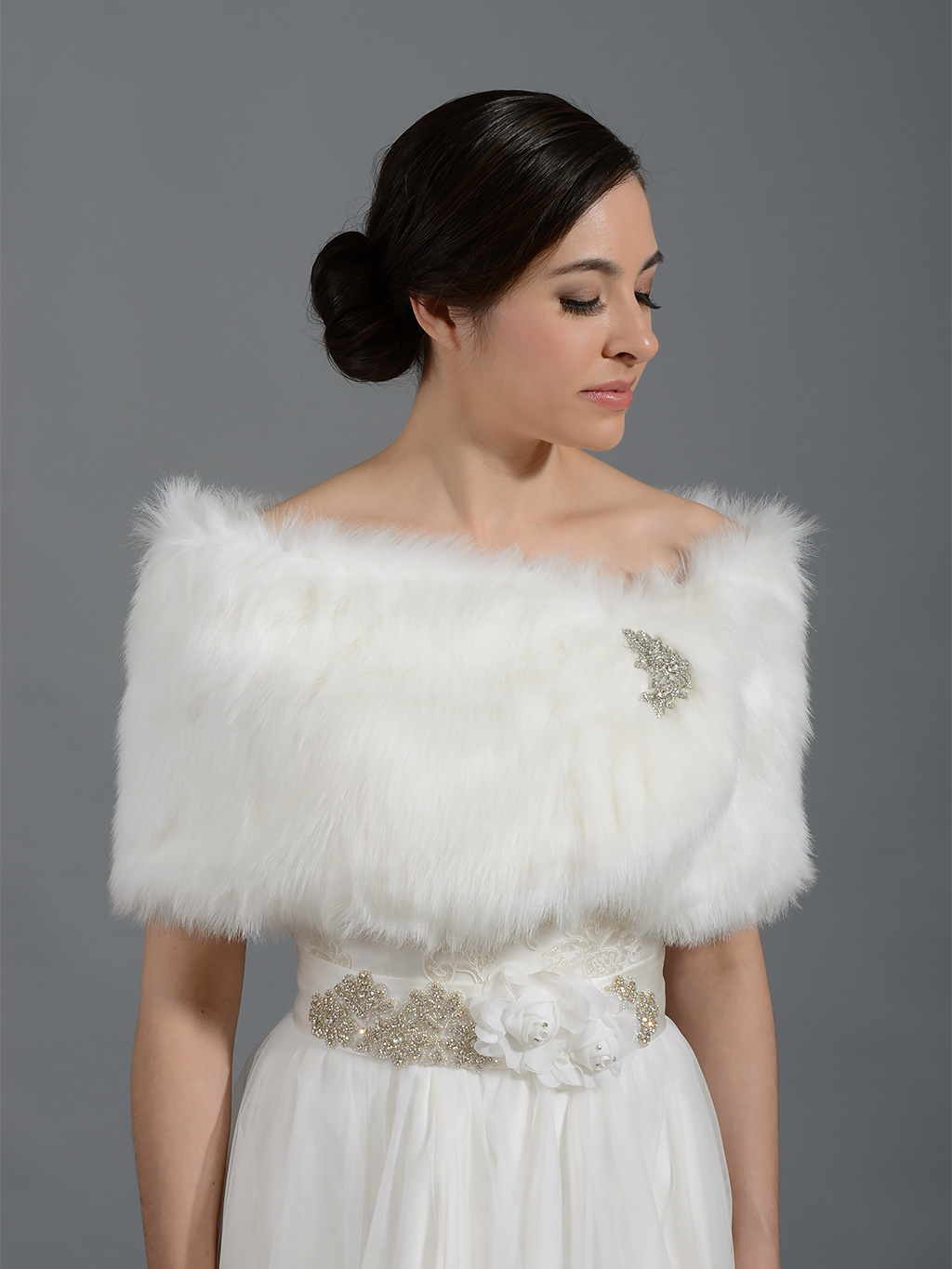 Faux Fur Wrap Bridal Shrug Fw009