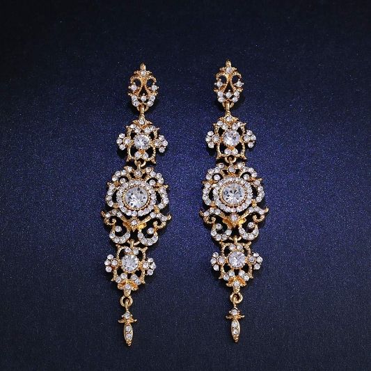 Sparkling Rhinestones earrings Earring_013