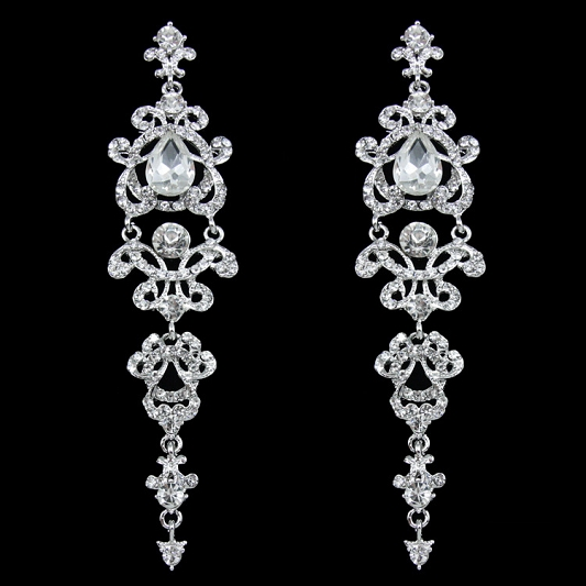 Sparkling Rhinestones earrings Earring_015