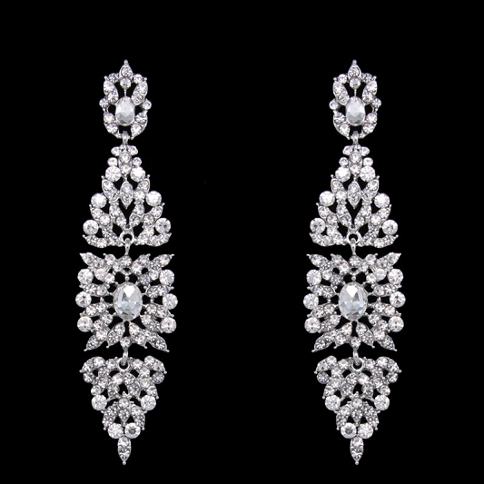 Sparkling Rhinestones earrings Earring_016