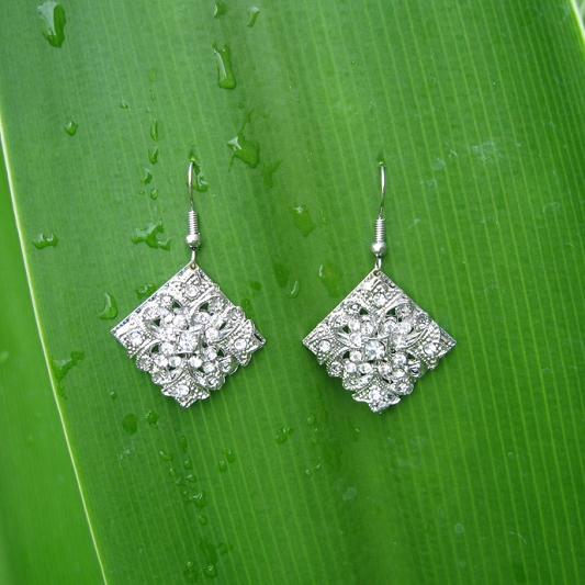 Sparkling Rhinestones earrings Earring_006