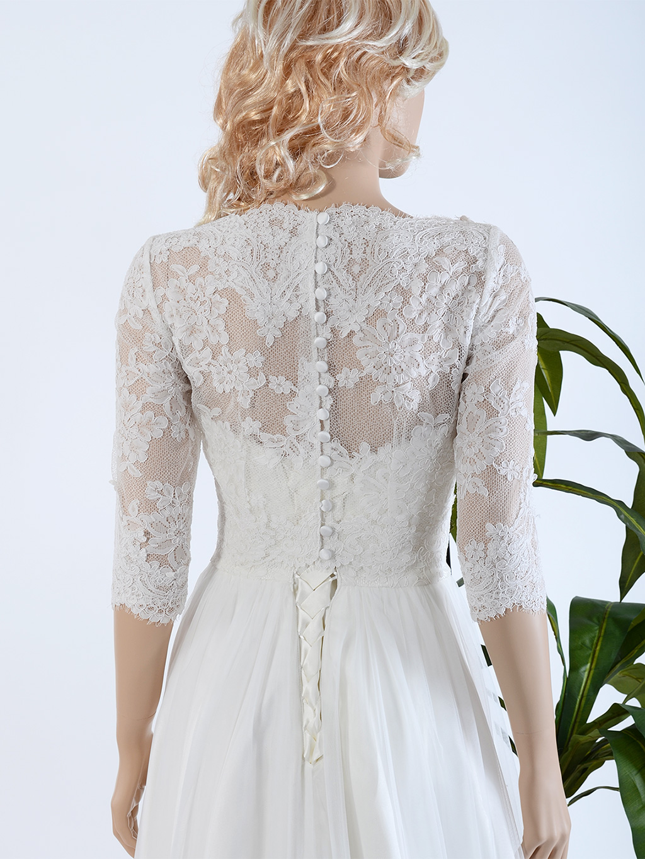 Bridal Bolero Lace Wedding Dress Topper Wj021