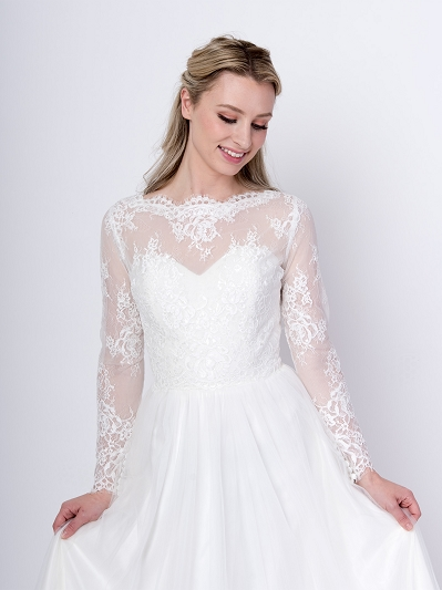 Long sleeve wedding dress topper WJ050