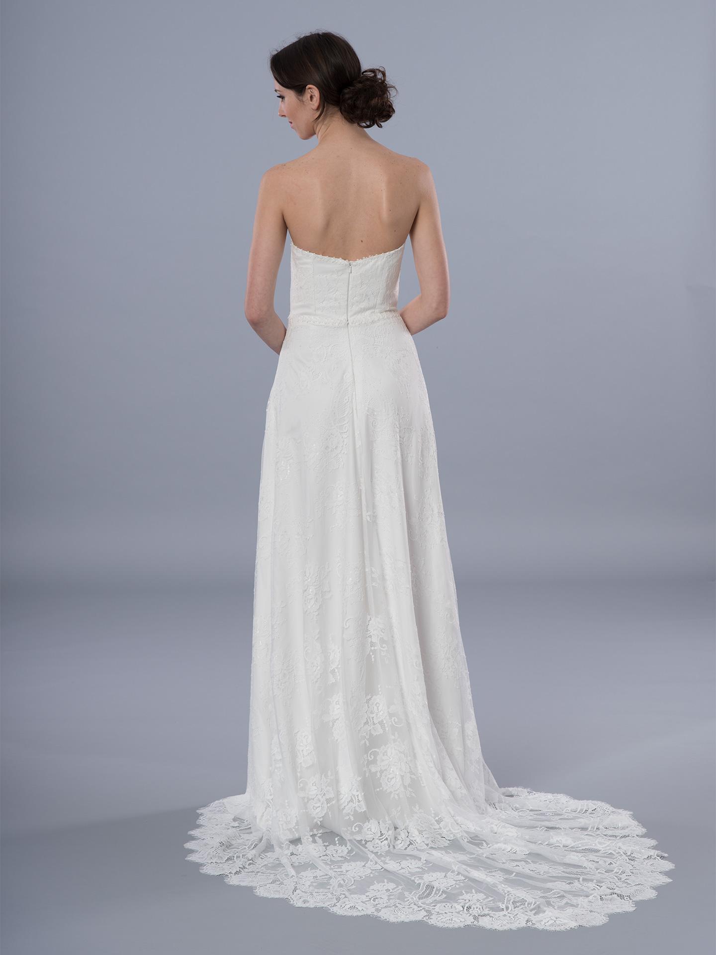 Boho wedding dress strapless 4069