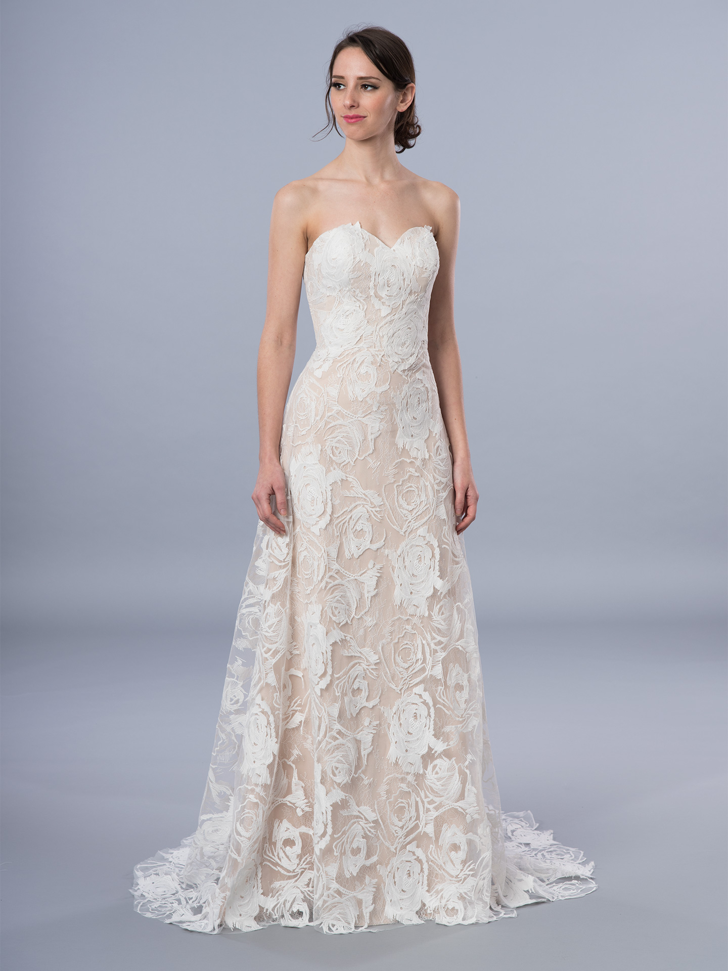 Boho lace wedding dress 4071