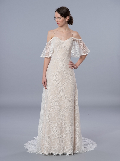 Bohemian wedding dress 4073