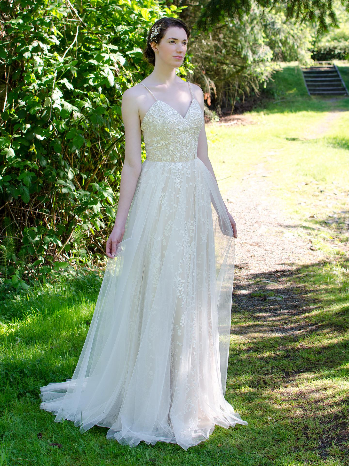 Spaghetti Strap Wedding Dress 4057