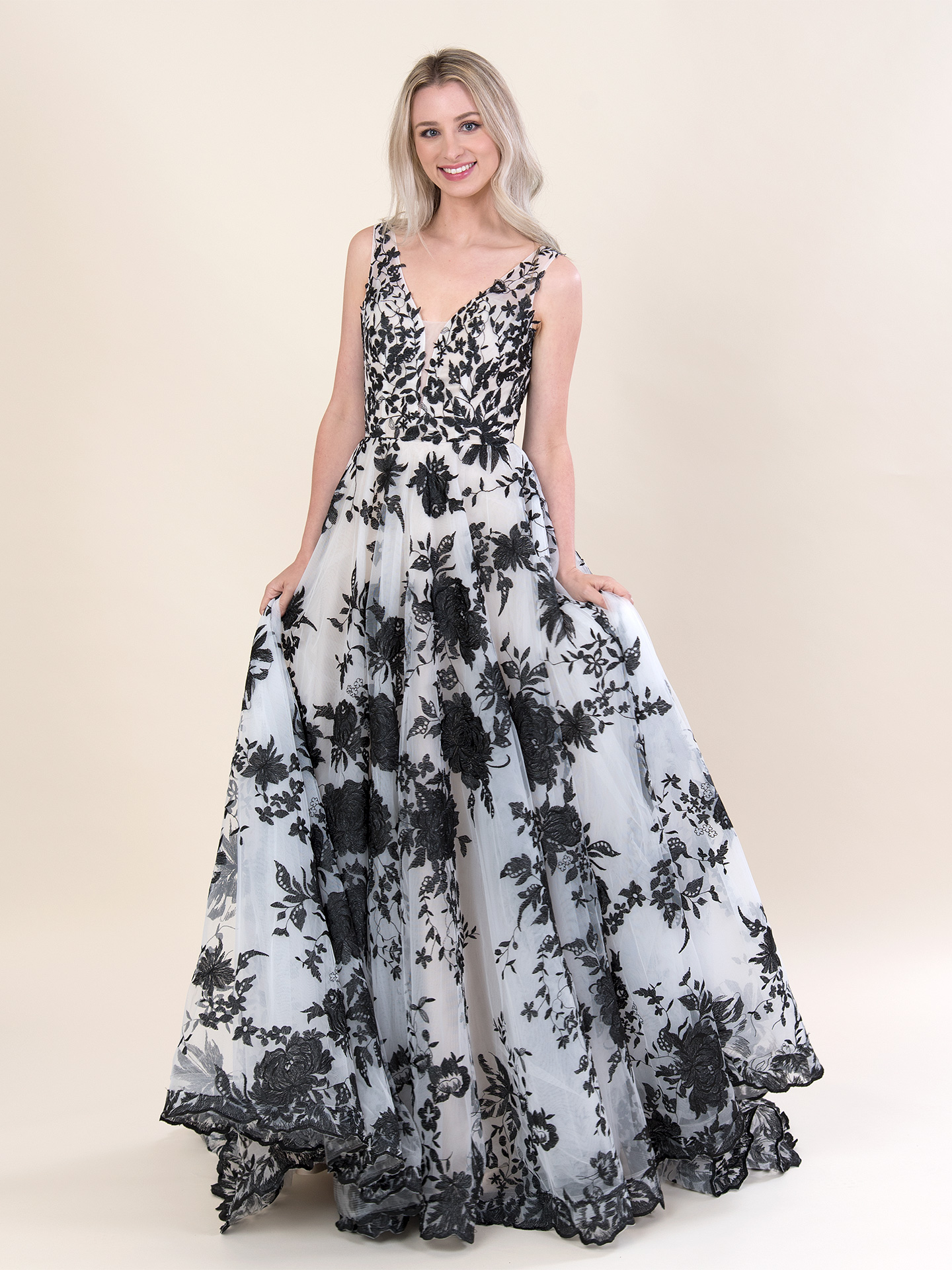 Black lace wedding dress 4078-black