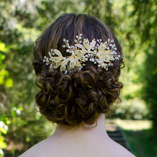 Delicate pearl Hair Comb HC008