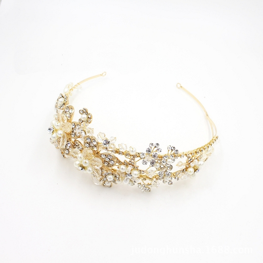 Bridal headband with Sparkling Rhinestones
