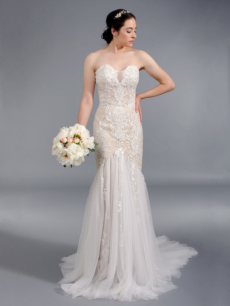 Strapless mermaid wedding dress 4046