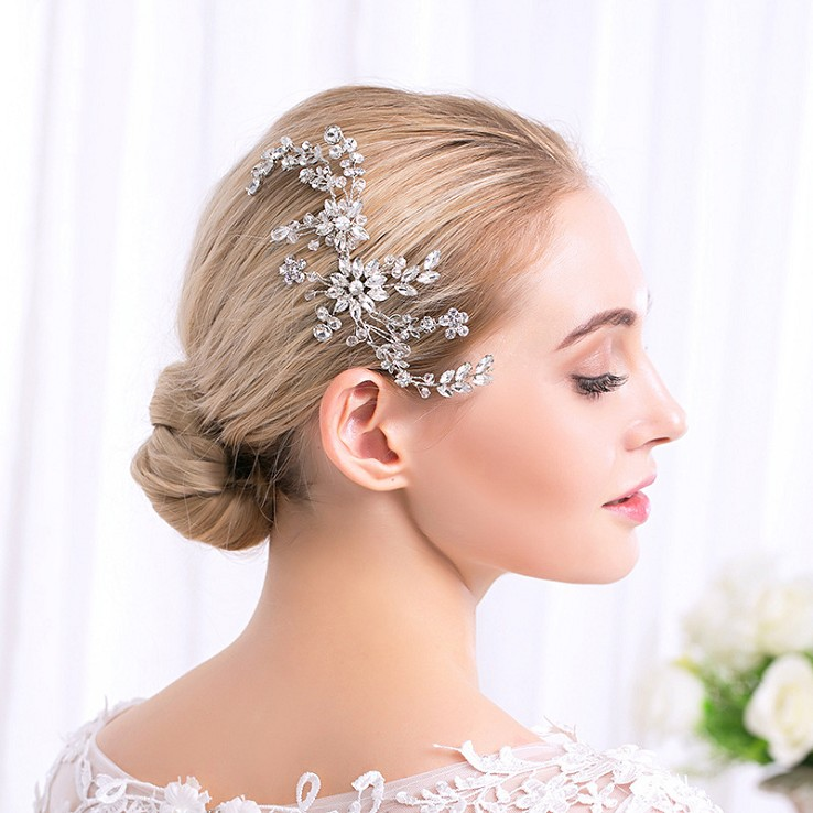 Rhinestone and Pearl Hair Comb HC007