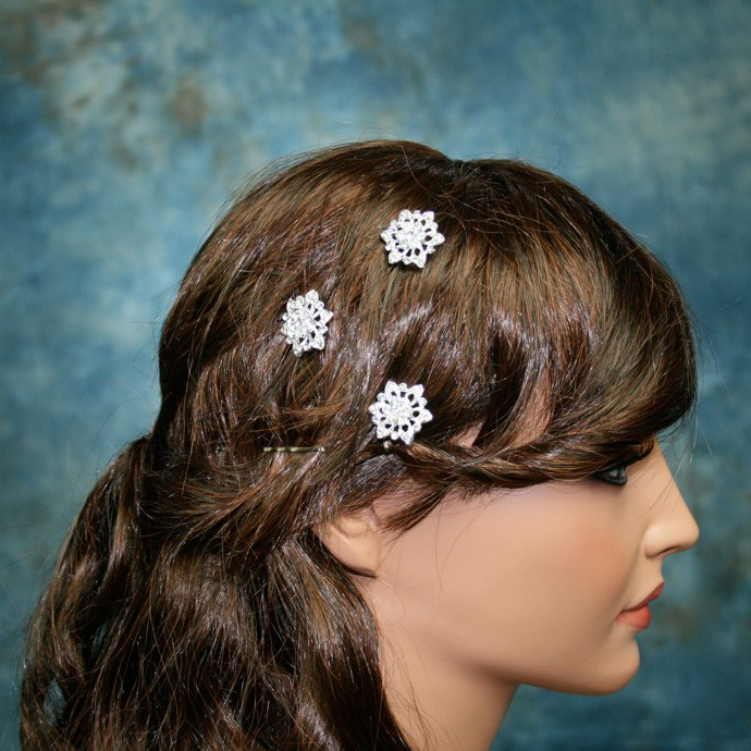 Sparkling Rhinestones Hair pins - Set of 3